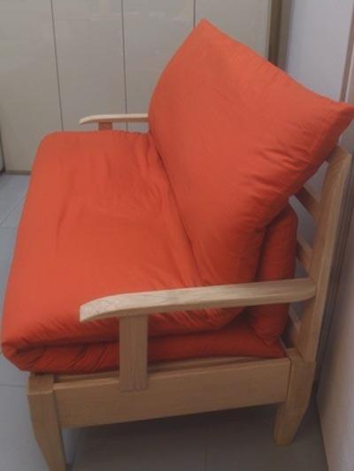 Divano letto in legno massello Kverko  La Casa Econaturale