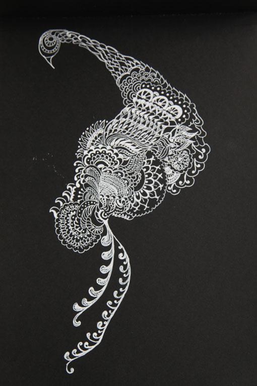 bianco su nero  La Casetta delle Pesche