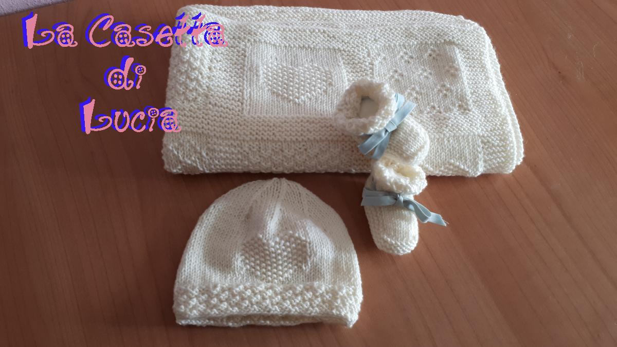 Super Cappellino Neonato Trilli ai Ferri - La Casetta di Lucia FV21