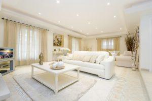 cleaned living room
