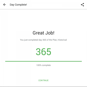 Plan Historical YouVersion Completed