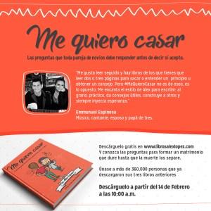 Recomendación de Emmanuel Espinosa para el libro Me Quiero Casar del Pastor Alex López