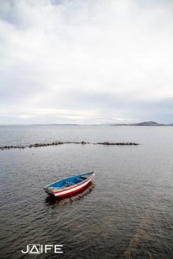 Bateau sur le lac Titicaca