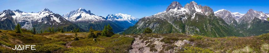 Panorama depuis Aiguillettes des Posettes