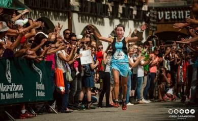 A l'arrivée du marathon du Mont Blanc