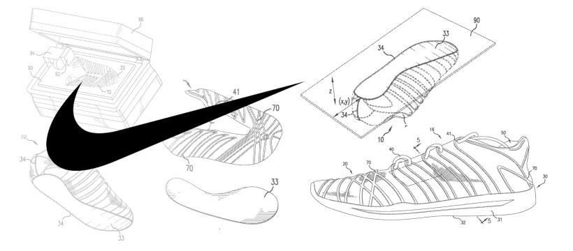 [Brevet] Nike et l'impression 3D 1