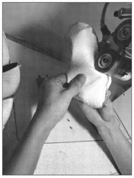 Dépose du ruban pour l'étanchéité