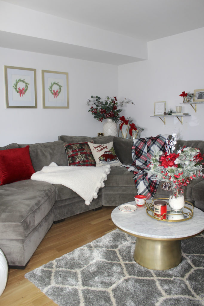 living room decor grey couch theaters fau my for the holidays - lace & lashes