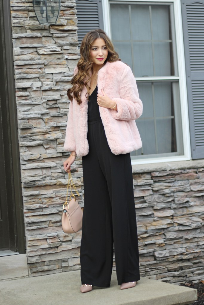 18afa33eeb10 Glam Holiday Jumpsuit + Holiday Party Outfit Ideas -