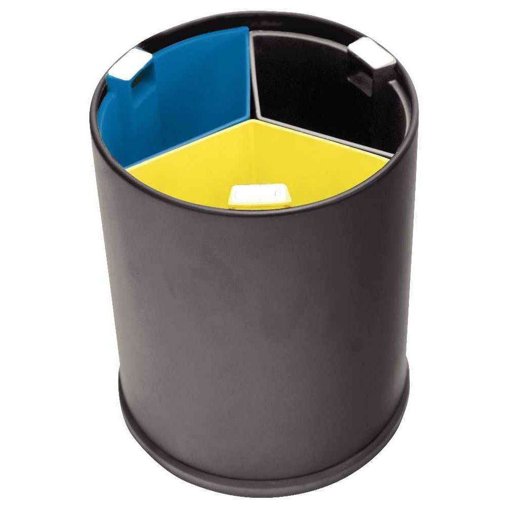 corbeille tri selectif 3 bacs 13 litres