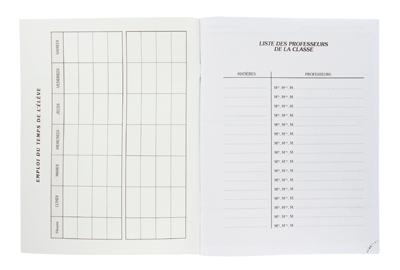 Agenda Scolaire 80 Pages 17x22 Fuzeau Vente DAgenda
