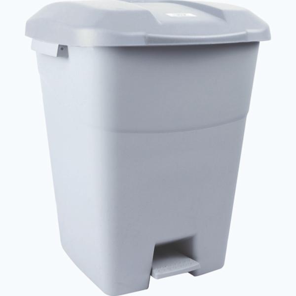 poubelle 50l gris avec pedale