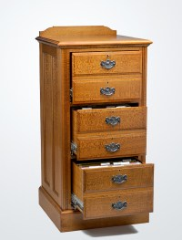 Silky Oak Timber Filing Cabinet