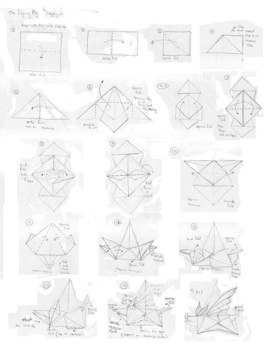 origami flying pig tutorial origami handmade