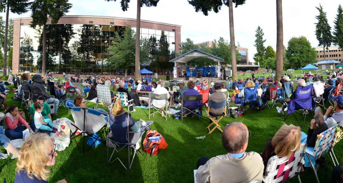 Outdoor Lacey concert