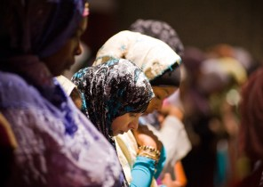 Women pray on Eid-ul-Fitr at the Islamic Cultural Center in Manhattan on Sept. 10th, 2010.