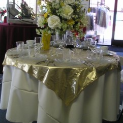 Chair Covers For Purchase Kid Desk Chairs Lacey Custom Linens Inc. :: Tissue Lame' Table Cloth