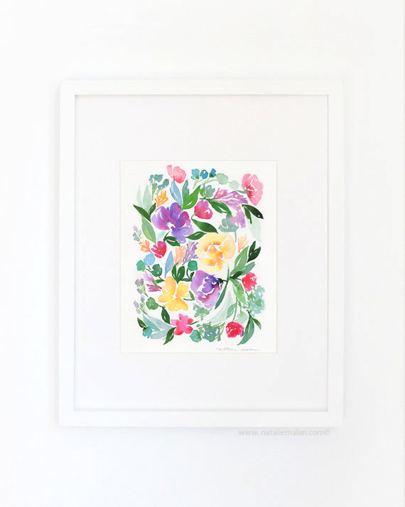 watercolor lavender floral