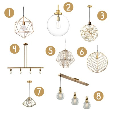 Gold Pendant Lighting