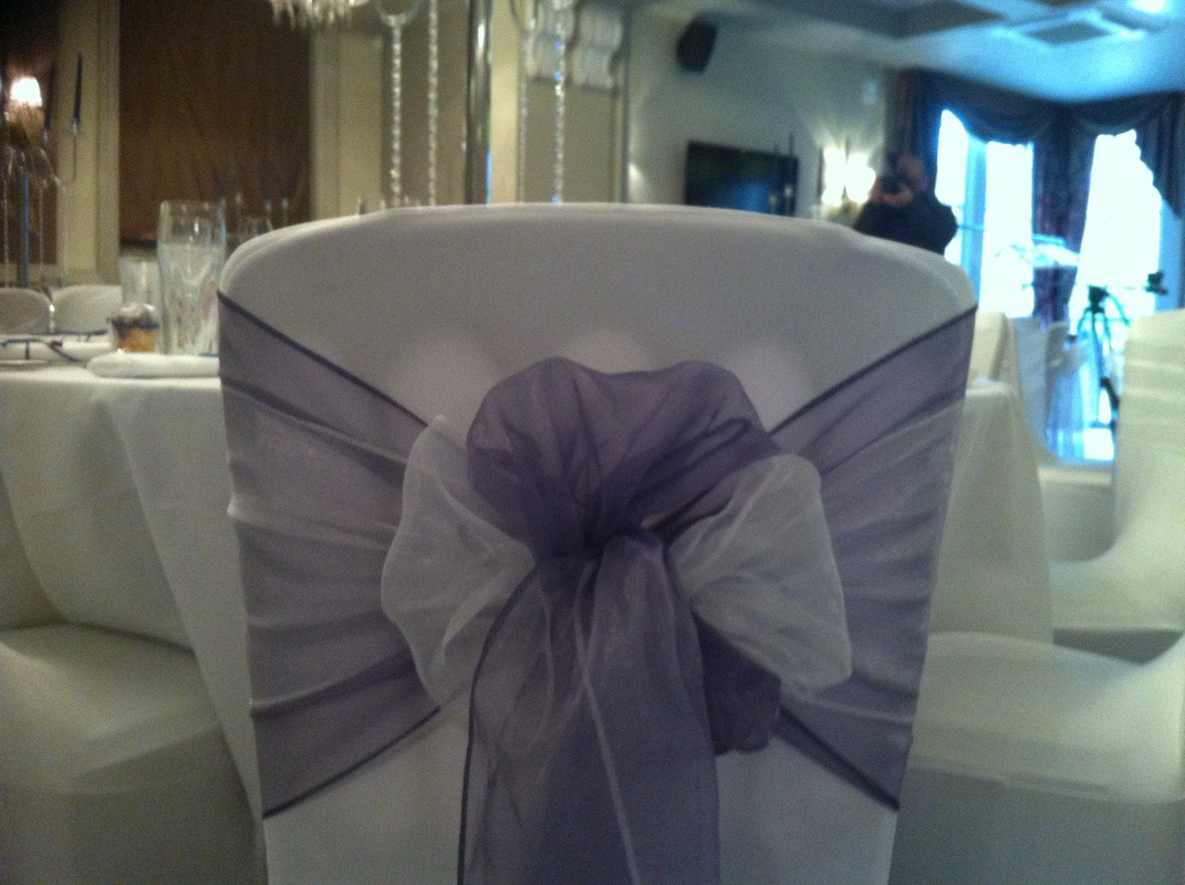 chair covers wedding london sleeper sofa organza sashes and bows hire for