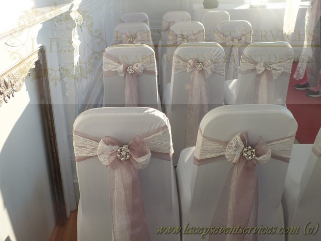 chair covers and sashes essex cover rental in brooklyn ny laceys event services galleries photos freestanding white wedding wall drapes with ad double vintage kace dusky rose pink organza tied to the chairs