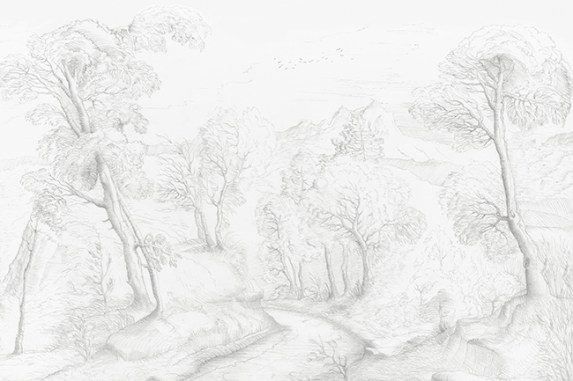 """""""Ancient Forest"""" by Gupica for Wall&Deco - INNERFOREST by GUPICA - Selected by La Chaise Bleue (lachaisebleue.com)"""