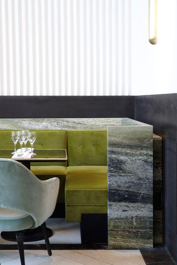 Greenery | PANTONE Color of the Year 2017 | Selected by La Chaise Bleue (lachaisebleue.com) | RESTAURANT MONSIEUR BLEU - PALAIS DE TOKYO (PARIS) by Joseph Dirand