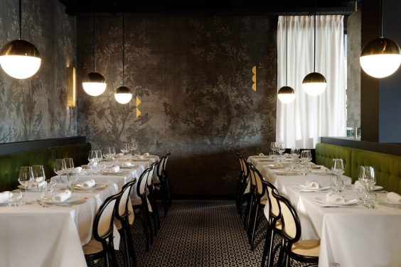 Greenery | PANTONE Color of the Year 2017 | Selected by La Chaise Bleue (lachaisebleue.com) | RESTAURANT LA FORÊT NOIRE (LYON) by Claude Cartier Studio