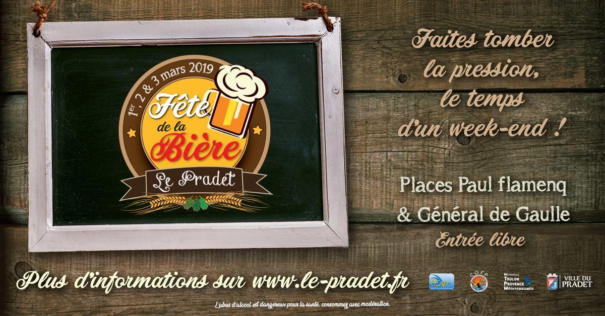 Fête de la Bière au Pradet les 1, 2 et 3 mars