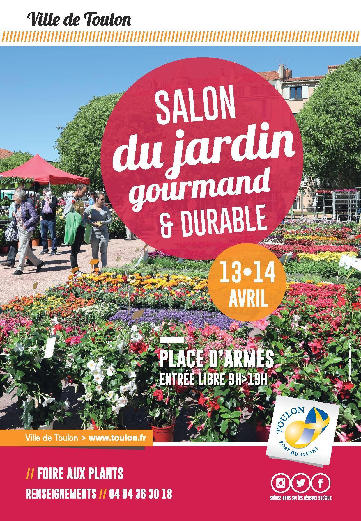 Salon du Jardin Gourmand et Durable à Toulon les 13 et 14 avril