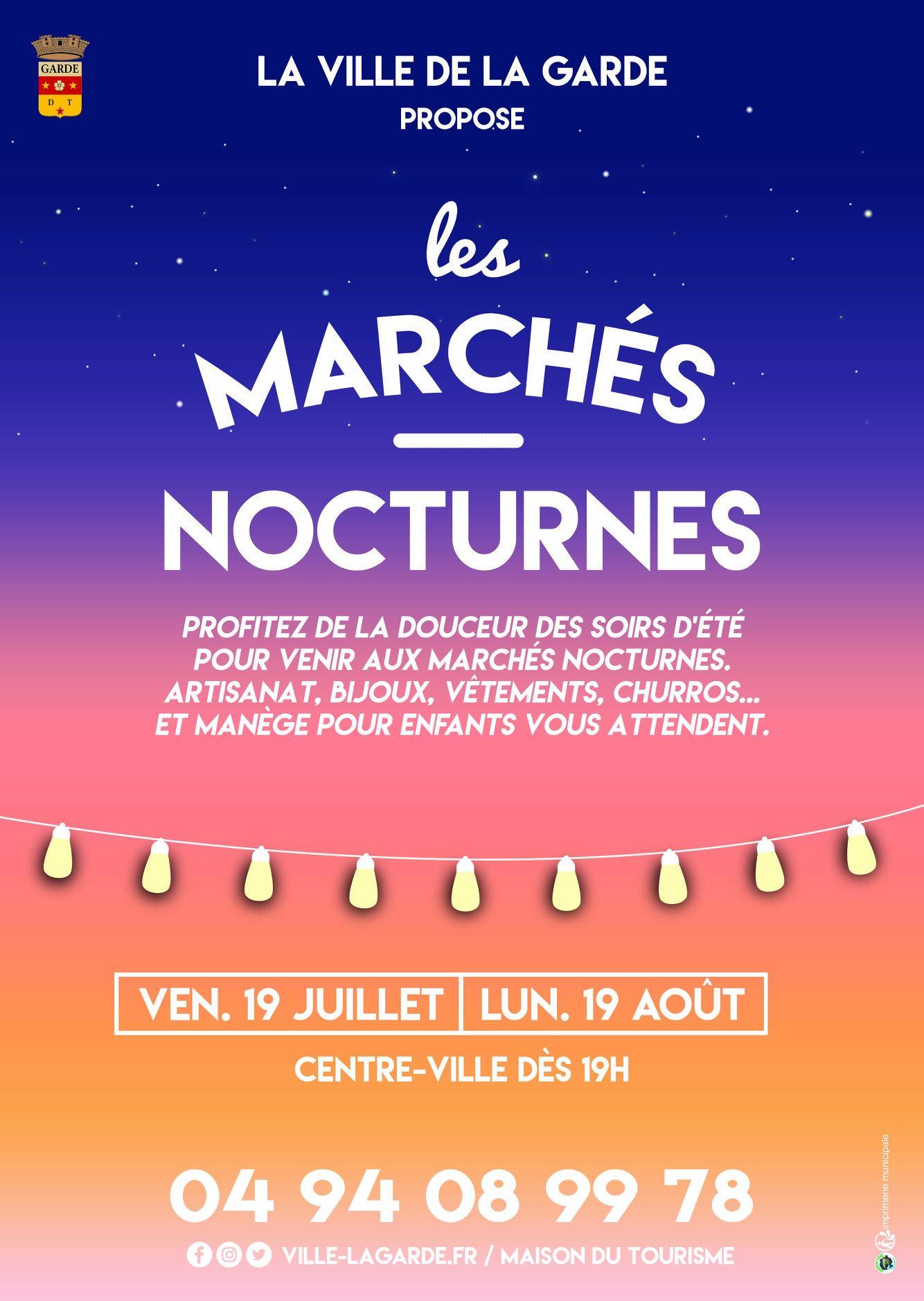 Marché nocturne de La Garde le 19 août