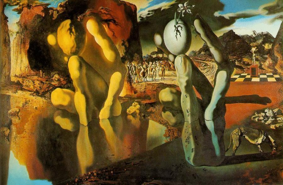 Risultati immagini per Salvador Dalì - La metamorfosi di Narciso