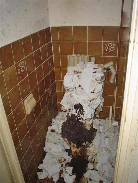 Verstopfte Toilette