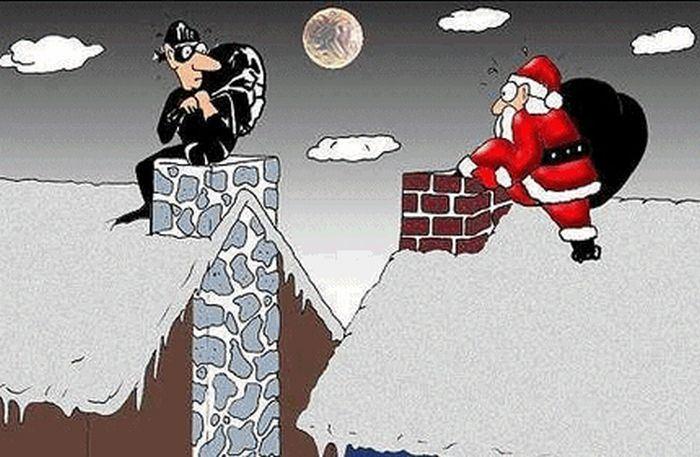 Weihnachten  Geben und Nehmen