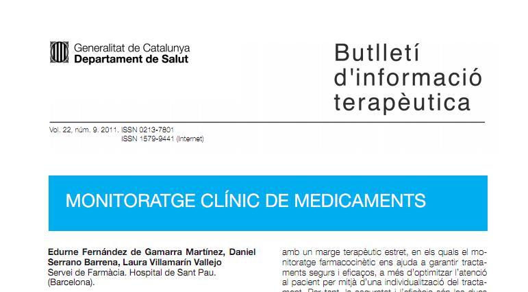 Una breve introducción a la monitorización de fármacos