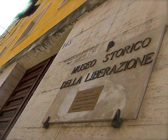 Museo Liberazione di Roma - targa ingresso