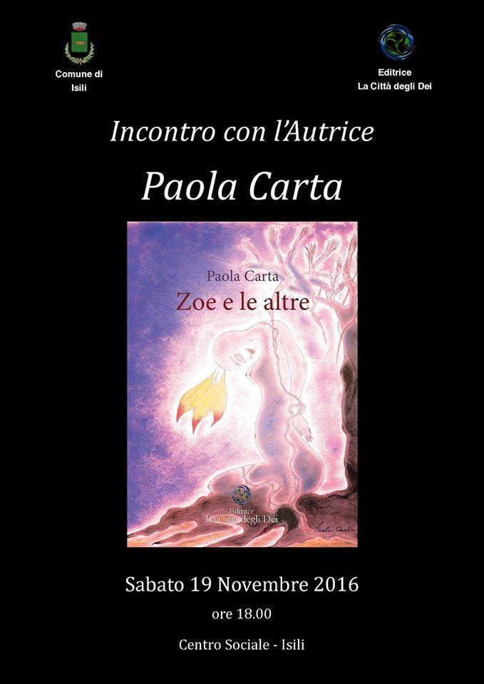 19 Novembre – Isili : Paola Carta – Zoe e le altre incontro con l'autrice