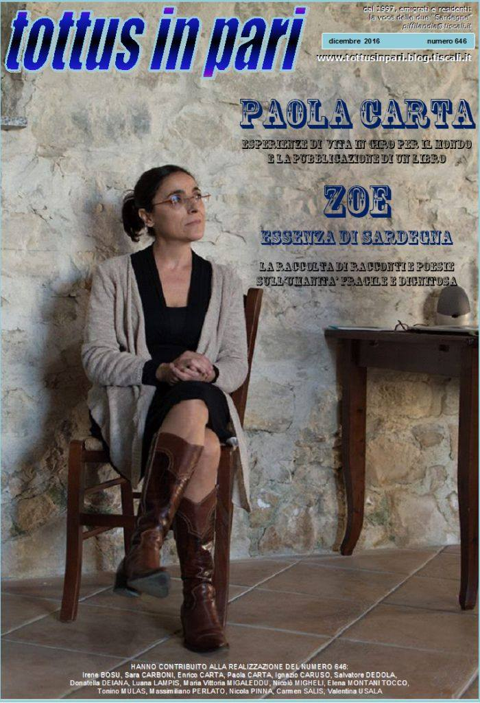 Paola Carta sulla copertina di Tottus in Pari