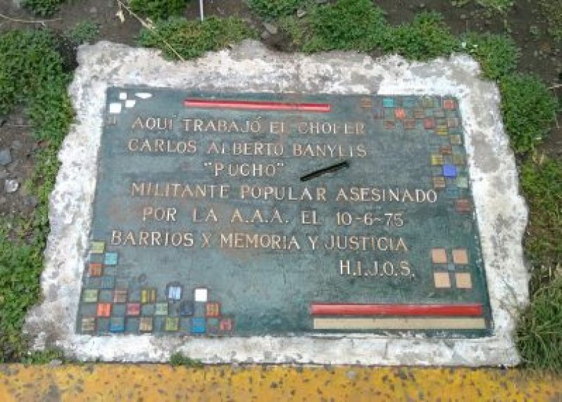 Una baldosa en homenaje a María Cecilia Almada, una militante desaparecida 2