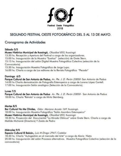 El sábado arranca el Festival de Fotografía del Oeste en Ituzaingó 2
