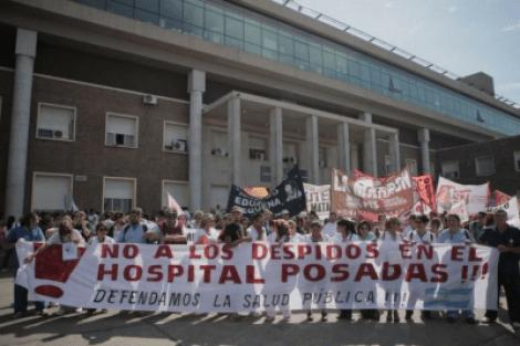 Ajuste en salud: 150 nuevos despidos en el Hospital Posadas 2