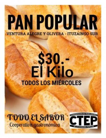 Mañana venderán el pan a 30 pesos el kilo en Ituzaingó Sur 3
