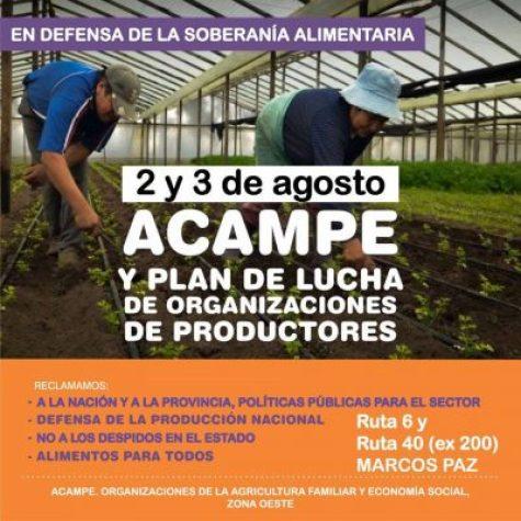 Acampe de organizaciones de Agricultura Familiar de zona oeste en reclamo de políticas públicas 2