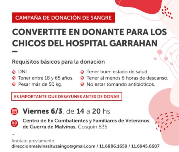 Ituzaingó: Jornada de donación de sangre en la sede de los veteranos de Malvinas 1