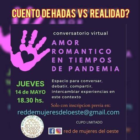 Red de Mujeres del Oeste organiza una charla virtual  para femineidades sobre 'Amor romántico' 1