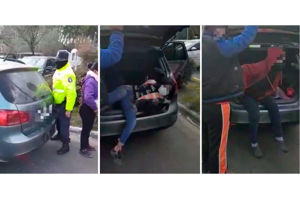 Ituzaingó: detienen a una pareja que llevaba a sus hijos en el baúl del auto