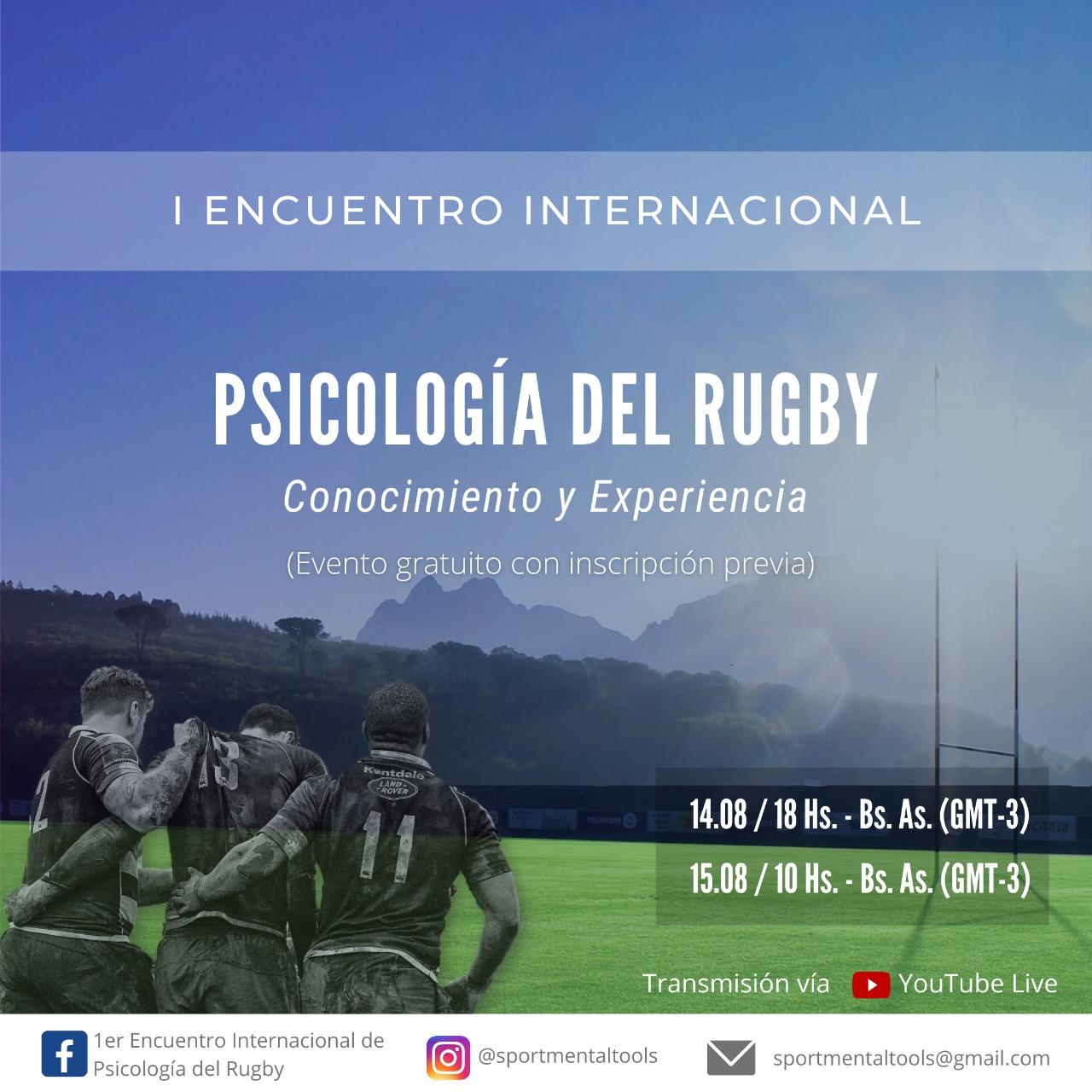 Se viene el Encuentro Internacional de Psicología del Rugby