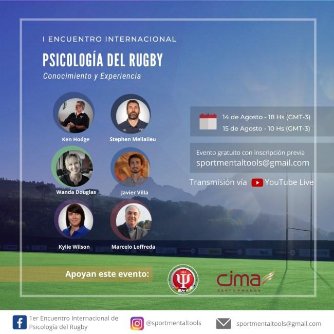 Se viene el Encuentro Internacional de Psicología del Rugby 1