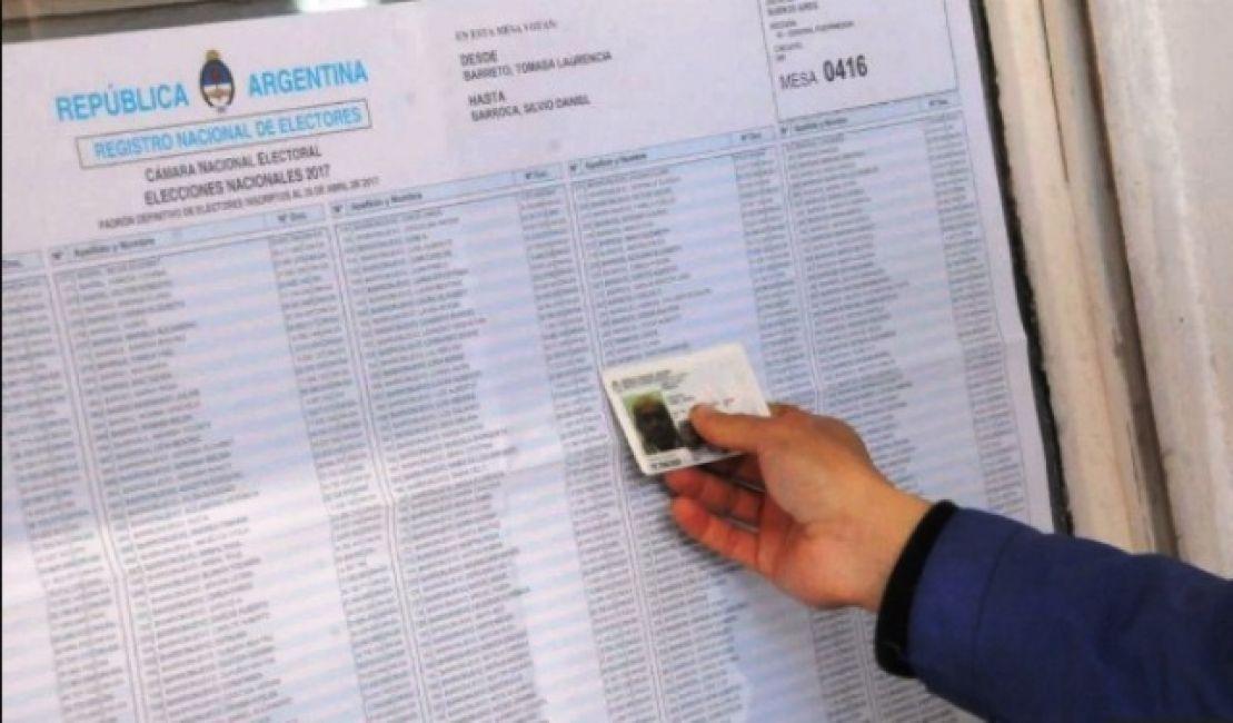 Desde hoy se puede consultar el padrón electoral para hacer reclamos y cambios