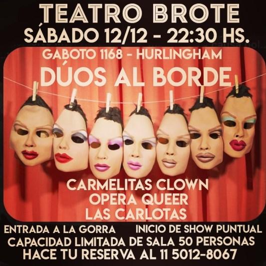 Tres conjuntos teatrales presentan en Hurlingham la varieté 'Dúos al borde' 1